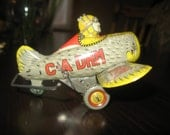 SALE Vintage C-A DHM Tin Wind-Up Stunt Airplane RARE