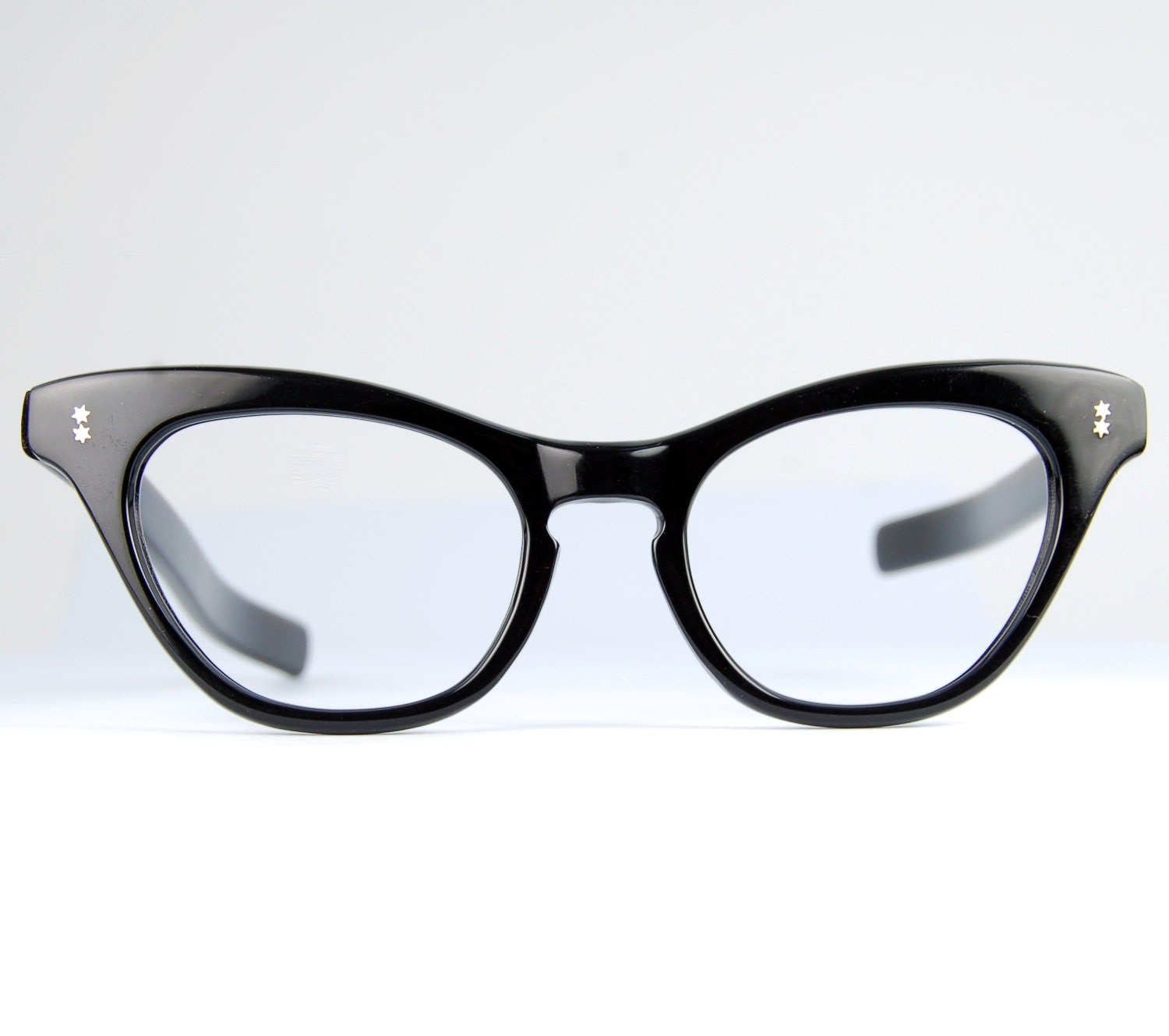 large black winged cat eye glasses frames atomic by thenovelty