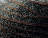 Lovely dark choco brown lambskin leather - with lines - a total of almost 3 square foot