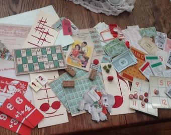 Christmas Hues - Ephemera Package Super Lot Vintage Goodies