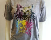 One of a Kind Duo Cat Print Tee