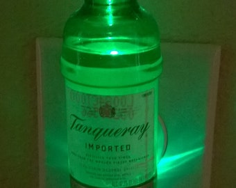Tanqueray Gin mini-liquor bottle LED night light
