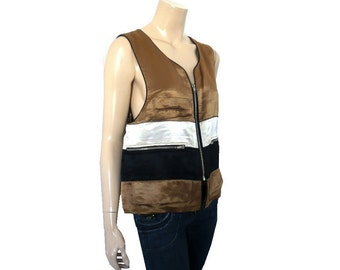 SONIA RYKIEL French Vintage Designer Unisex Zipped up Vest / Outerwear