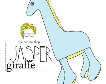Jasper Giraffe Stuffed Animal Sewing Pattern