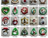 Custom Christmas picture frame ornaments - photo transfer from your own jpeg, family, pets - Nicole originals