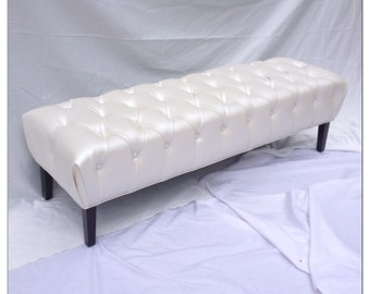 Round Tufted Ottoman Upholstered Ottoman Coffee Table Tufted