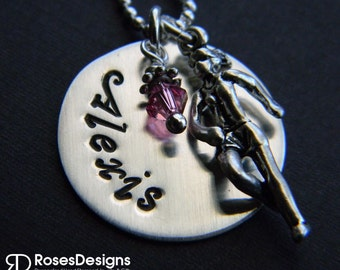 Personalized Runner Necklace, Marathon Runner, Track, Sports Jewelry, by RosesDesigns