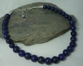 Lapis Lazuli necklace silver accents
