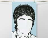 Icons - Noel Gallagher - 100% Cotton Tea Towel