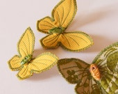 Textile Butterfly Hairclips Insect Entomology Natural History Woodland Fashion Accessory