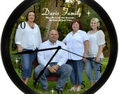 Personalized Photo Wall Clock With Your Picture Custom Unique Keepsake Christmas Gift Idea.