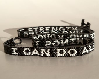 Affirmation Bracelet - I Can Do All Things Through Christ Who Gives Me Strength