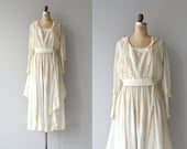 Edwardian silk dress | vintage 1920s dress • cream silk 20s dress