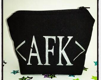 Away From Keyboard (AFK) Gamer Inspired Zipper Pouch