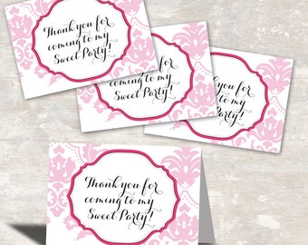 PRINT & SHIP Paris Birthday Party Favor Bag Toppers (set of 12) >> personalized and shipped to you | Paper and Cake