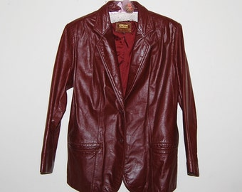 Vintage Leather Jacket Ladies Boyfriend Style