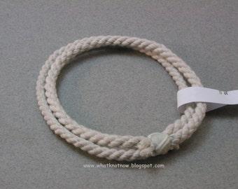 handmade rope two loop cotton bracelet soft bangle bracelet nautical bracelet rope jewelry 3490