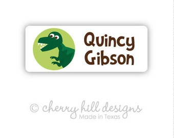 DINOSAUR Iron-on clothing and fabric labels - set of 42 (smallest set) - several template options