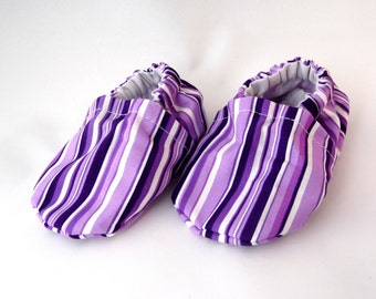 cloth baby shoes, purple stripes, fabric shoes, spring baby shoes, cotton baby shoes, baby accessories, baby gift idea,baby shower gift,cute