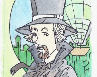 "3"" x 3"" Wizard of Oz Art Card - Wizard"