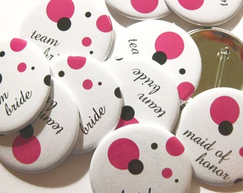 Party Favors Pins - Team Bride - 2.25 inch