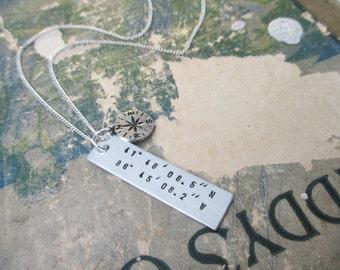 The Nichole Necklace - Custom Coordinates Bar Necklace