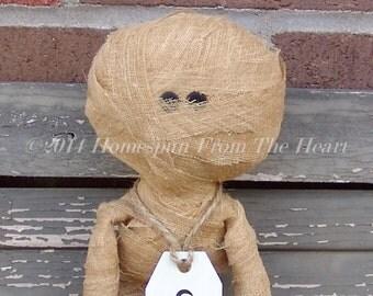 Primitive Halloween Mini Raggedy Mummy Doll
