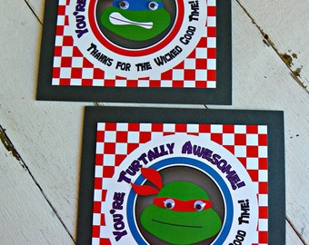 TMNT Pizza Box Toppers...Set of 12 Pizza Box Toppers