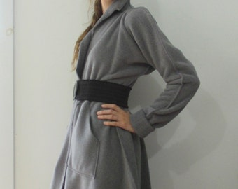 PROVOCATEC by BASIA Designs Grey Pouf Sleeve  Fleece Coat - Free US Shipping