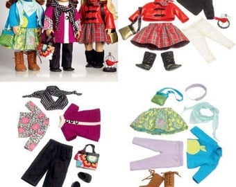 DOLL CLOTHES PATTERN / Make Mix and Match Doll Outfits / Fits American Girl  - 18 Inch Dolls