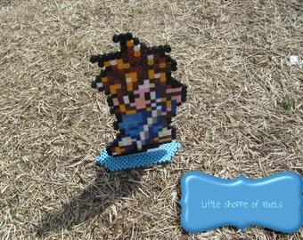 Chrono Trigger // Standing Chrono Figure // Unofficial Chrono Trigger Art // Geeky Nintendo Gift // Stocking Stuffer