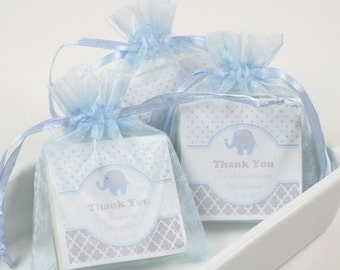 Baby Shower Favors, baby elephant shower favors, elephant favors, blue shower favors