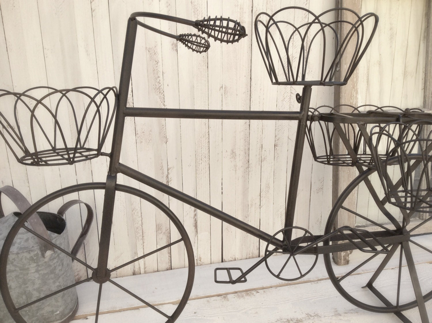 Metal bicycle garden planter home garden decor by for Bicycle decorations home