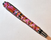 New Handmade Jr Gent Chrom Rollerball pen covered with polymer caly