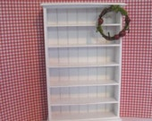 Dollhouse bookcase, white bookcase, mini bookcase, shelf, white shelf, dollhouse miniature, country, twelfth scale,