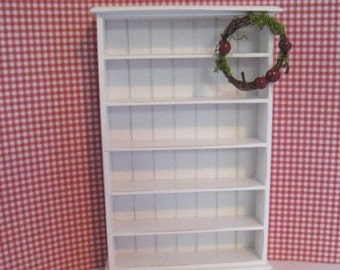 Dollhouse bookcase, white bookcase, mini bookcase, shelf, white shelf, dollhouse miniature, country, twelfth scale,