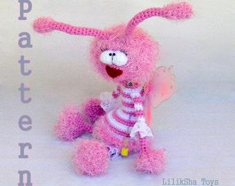 Crochet toy Amigurumi pattern - Sonechka, sweet dreams fairy.