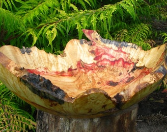 Red Box Elder burl bowl with limb