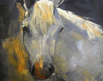 Horse Giclee  Print, Horse Canvas Print, Carol Schiff Print, Free Shipping, Art Print on Canvas