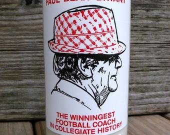 Alabama Bear Bryant Upcycled Vintage Coke Bottle Candle