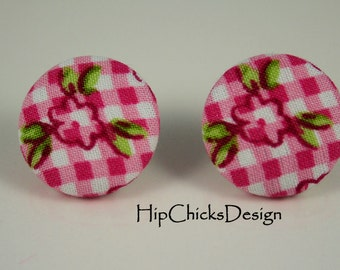 Covered Button Earrings