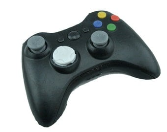 SOAP Xbox for Teens and Gamers, Mountain Dew-type scented BLACK controller, Xbox 360 video game geek gift