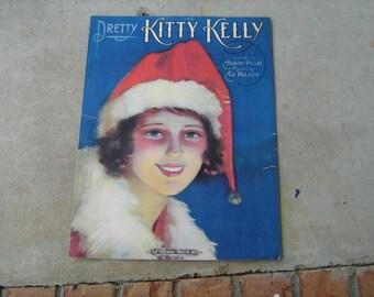 1920 sheet music  (  pretty kitty kelly )