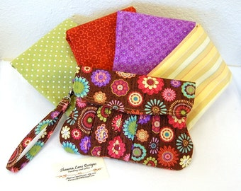 womens clutch purse, YOU CHOOSE FABRIC clutch, custom made clutch, handmade clutch, cell phone clutch, pleated clutch