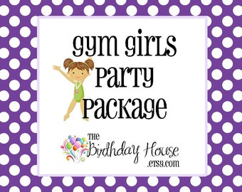 Gymnastics Girls Party - Complete Party Package for the Ultimate Gymnast Party by The Birthday House