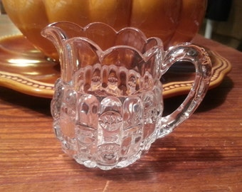 Vintage Crystal Cut glass Antique Creamer pitcher
