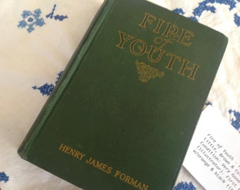 Vintage Antique Fire of Youth - Henry James Forman - Book