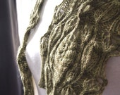 Instant Download pdf Hand Knitting Pattern - Mini Leaves Scarf