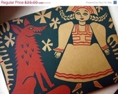 ON SALE Hand bound Art Journal - Vintage Book Cover OOAK Photo & Scrapbook - Fairy Tale Edition