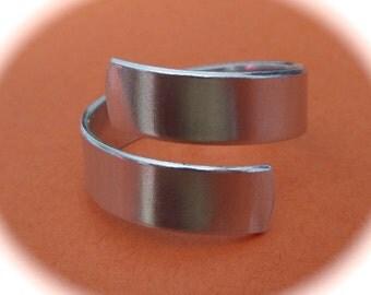 3 YOU CHOOSE Wrap 18 Gauge Ring Blanks Medium Weight Tumbled 1100 Food Safe Aluminum - 3 Flat Metal Stamping Blank - Made in USA